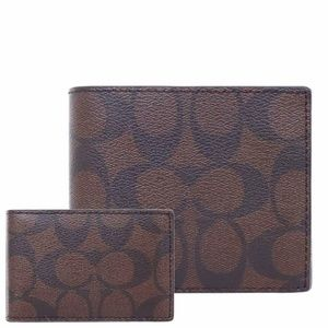 COMPACT ID WALLET IN SIGNATURE CANVAS F74993